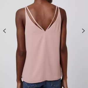 Topshop Nude Pink Double Strap V-Front Cami